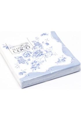 Madame Coco Peçete Mavi Çiçekler 33X33Cm
