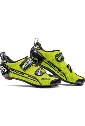 Sidi T4 Air Triatlon Ayakkabısı Siyah-Sarı 45