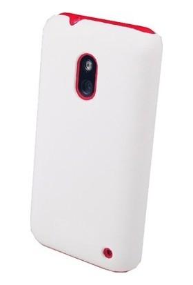 Case 4U Nokia Lumia 620 Rubber Beyaz Arka Kapak*