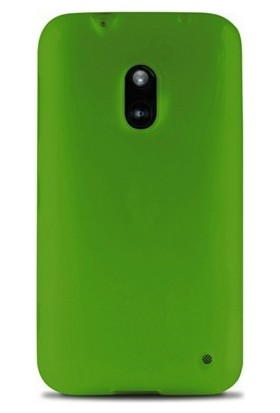 Case 4U Nokia Lumia 620 Rubber Yeşil Arka Kapak