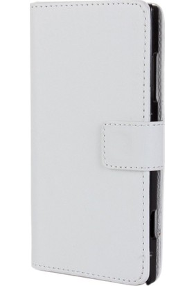 Case 4U Nokia Lumia 830 Beyaz Cüzdan Kılıf