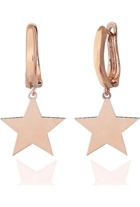 Lio Jewels 925 Ayar Altın Kaplama Gümüş Tek Yıldız Klipsli Küpe