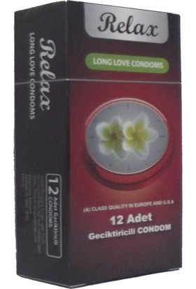 Relax Long Love Condoms 12li Prezervatif