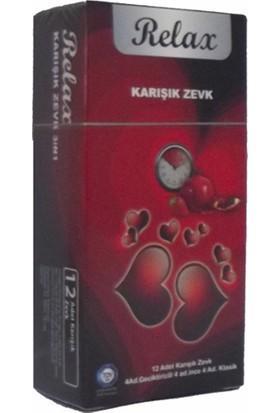 Relax Mix Condoms 3 Kutu 12li Karışık Prezervatif