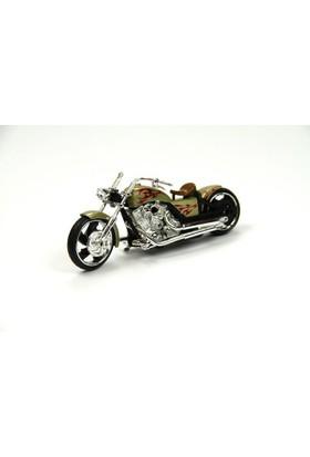 Motor Max Motormax 1:18 Chopper Motorsiklet Modeli (Krem)