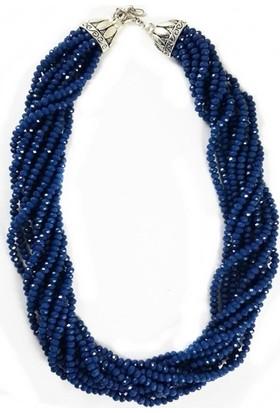 Bijustore Mavi Kristal Taş Kolye