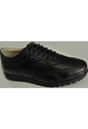 Dr.Comfort Erkek Diyabet Ayakkabısı Deri DR.9511 Bağcıklı Siyah