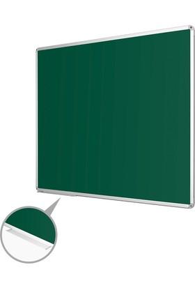 Penguen 60 cm x 90 cm Alüminyum Çerçeve Duvara Monte Yeşil Tahta (Tebeşir Tahtası)