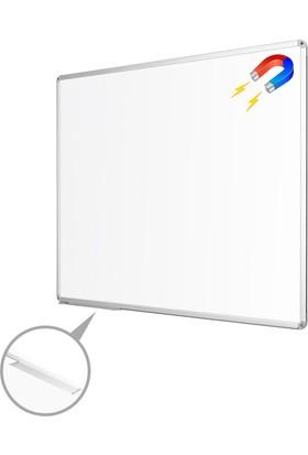 Penguen 50 cm x 70 cm Alüminyum Çerçeve Duvara Monte Manyetik Yazı Tahtası Beyaz