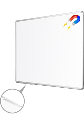 Penguen 60 cm x 90 cm Alüminyum Çerçeve Duvara Monte Manyetik Yazı Tahtası Beyaz