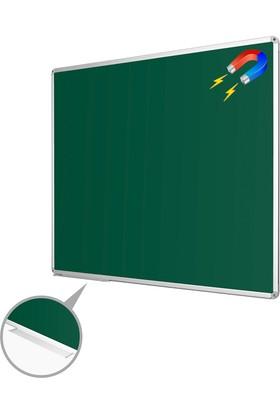 Penguen 90 cm x 120 cm Alüminyum Çerçeve Duvara Monte Manyetik Yeşil Tahta (Tebeşir Tahtası)