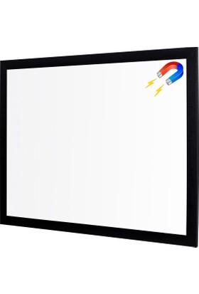 Penguen 60 cm x 90 cm Lüks Mdf Çerçeve Duvara Monte Manyetik Yazı Tahtası Beyaz