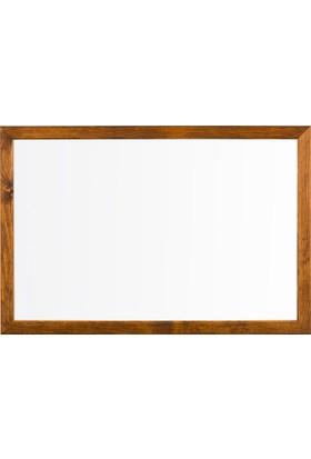 Penguen 120 cm x 180 cm Doğal Ahşap Çerçeve Duvara Monte Laminat Yazı Tahtası Beyaz