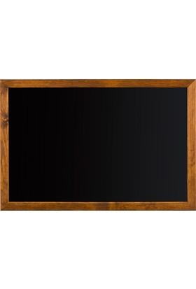Penguen 65 cm x 100 cm Doğal Ahşap Çerçeve Duvara Monte Kara Tahta (Tebeşir Tahtası)