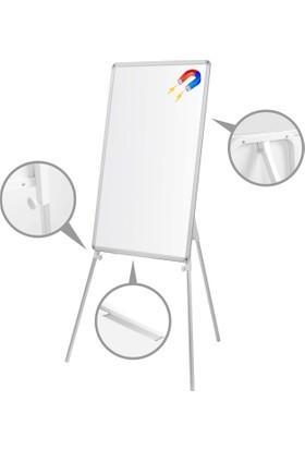 Penguen 60 cm x 90 cm Teleskopik Ayaklı Manyetik Yazı Tahtası Beyaz