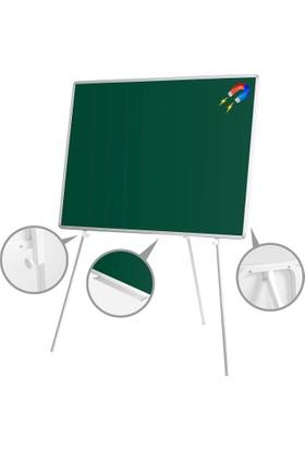Penguen 90 cm x 120 cm Teleskopik Ayaklı Manyetik Yeşil Tahta (Tebeşir Tahtası)