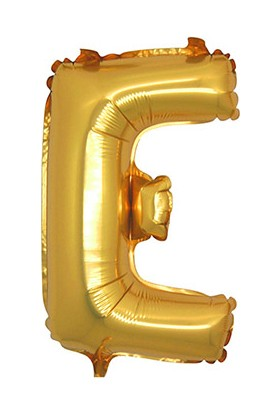 KullanAtMarket E Harf Altın Folyo Balon 40cm