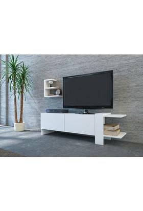 BMdekor Nadir Tv Ünitesi Beyaz