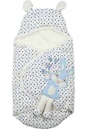 Modakids Erkek Bebek Tavşanlı Puantiyeli Kundak 051 - 23511 - 015