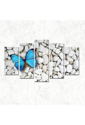7Renkdekor Beyaz Taş Mor Kelebek