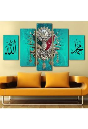 7Renkdekor Turkuaz Osmanlı Tuğra Allah Lafzlı