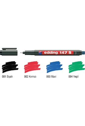 Edding Permanent Kalem E-147 S Silgili Siyah