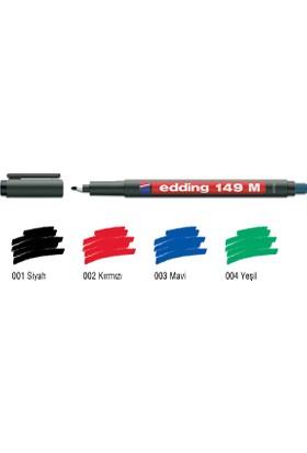 Edding Permanent Kalem E-149 M Silgili Siyah