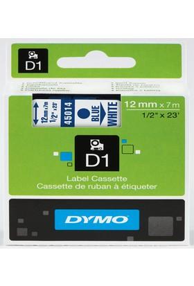 Dymo D1 Şerit S0720540 12-7Mt Beyaz-Mavi 45014