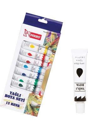 Mikro Yağlı Boya 12 Renk 12Ml Yb-12