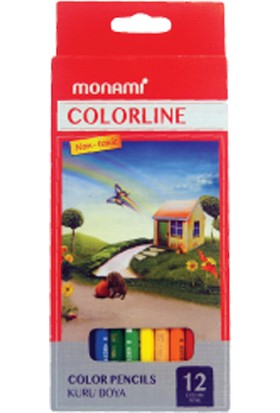 Monami Boya Kalemi 12 Renk Colorline
