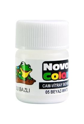 Nova Color Su Bazlı Cam Boya Şişe Beyaz