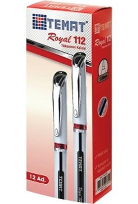Temat Tükenmez Kalem Royal Kırmızı 112