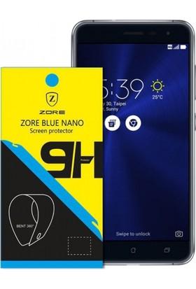 Zore Asus Zenfone 3 Nano 330 Derece Bükülen 9H Ekran Koruyucusu+0.2Mm Silikon Kılıf