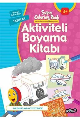 Aktiviteli Boyama Kitabı Taşıtlar