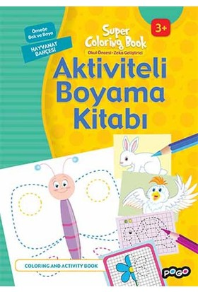 Aktiviteli Boyama Kitabı Hayvanat Bahçesi