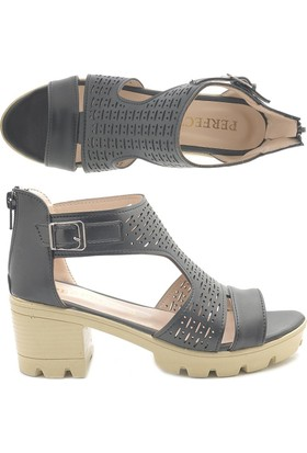 Perfect 034 Alçak Topuk Günlük Sandalet