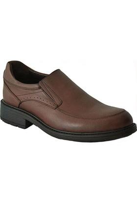 Komcero 2137 Deri Ortopedik Erkek Ayakkabı Kahve