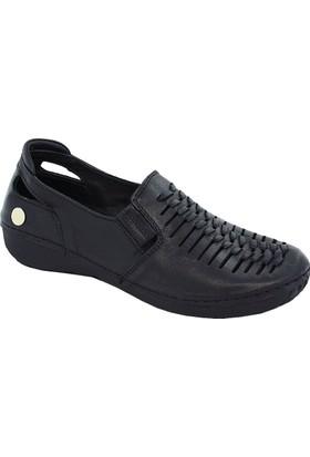 Mammamia D17Ya-680 Deri Kadın Ayakkabı Siyah
