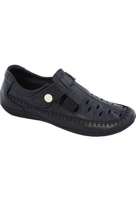 Mammamia D17Ya-930 Deri Kadın Ayakkabı Siyah