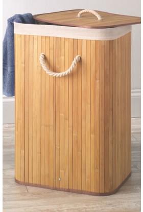 Lorin Bambu Katlanır Çamaşır Sepeti