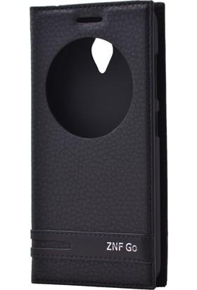 Case 4U Asus Zenfone Go Pencereli Kapaklı Siyah