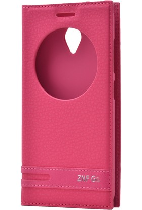 Case 4U Asus Zenfone Go Pencereli Kapaklı Pembe