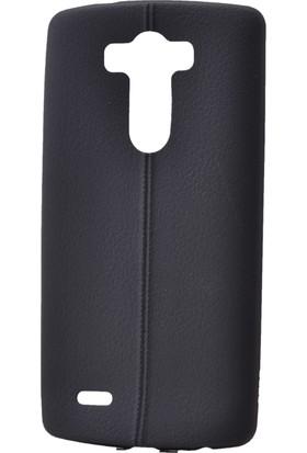 Case 4U Lg V10 Parlak Desenli Silikon Kılıf Siyah
