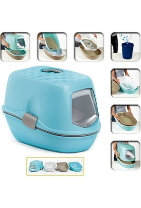 Stefanplast Furba Elekli Kapalı Kedi Tuvalet Kabı 39X59X22H Cm