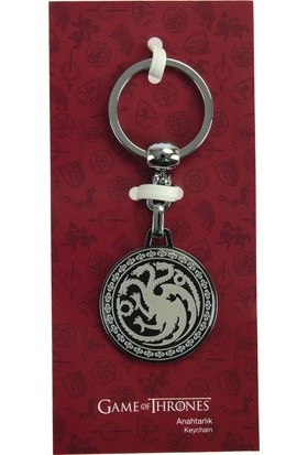 Game Of Thrones Siyah Anahtarlık Targaryen