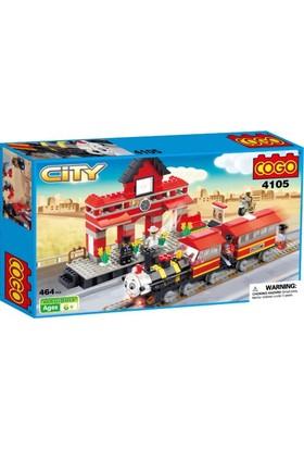 Cogo Lego City Yolcu Tren Seti 464 Parça