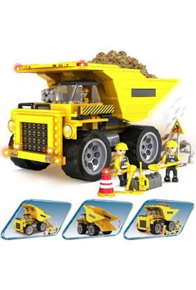 Cogo Fire Fighter İnşaat Seti İnşaat Kamyonu 423 Parça - 3723
