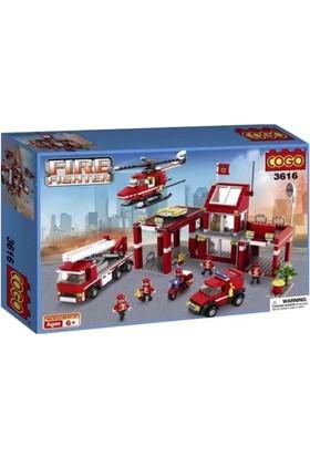 Cogo Lego İtfaiye Seti İtfaiye Merkezi 827 Parça
