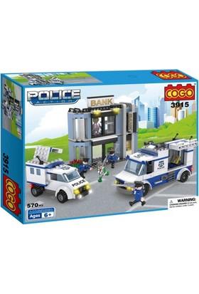 Cogo Lego Polis Seti Banka Soygunu 570 Parça