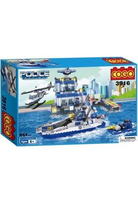 Cogo Lego Polis Seti Deniz Polis Karakolu 644 Parça